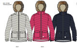 New Design Light Weight Women Comfortable Long Down Jacket