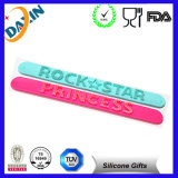 Custom Multicolor Silicon Crazy Slap Bands with Embossed Logo