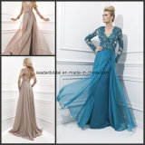 Long Sleeve Ladies Party Dresses A-Line Prom Women Gowns Z1022