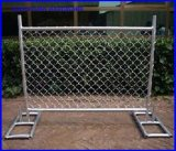 Chain Link Fence Panel Temporary Mobile Fence with Metal Feet America Market
