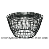 Metal Arrow Wire Coffee/Garden Table Wire End Side Table
