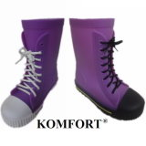 Fashionable Plastic Ladies Lostland Rain Boots Wholesale (JMC-343M)