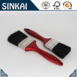 Red Plastic Handle Black Bristle Brush with Factory Price