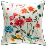 "17.7"" X 17.7"" The Flowers Printed Pillow and Cushion Home Fashion"