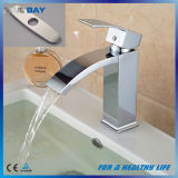 "Deck Mounted One Hole Basin Mixer Tap with 8"" Plate"