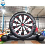 Inflatable foot dart board sport game