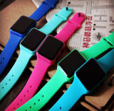 Can Be Customized Square LED Electronic Silicone Watch