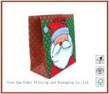 Cheap Bulk Christmas Drawsting Handle Paper Gift Bag Packing Bag