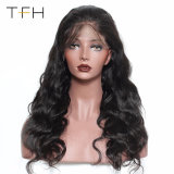 Best Selling Full Lace Human Hair Wigs 9A Virgin Brazilian Body Wave Glueless Human Hair Lace Front Wig with Baby Hair (TFH18)