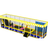 Mini Fun Kids Indoor Trampoline with Climbing Wall and Protective Net