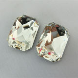 Crystal Color Octagon Rhinestone Jewelry Parts (DZ-3008)