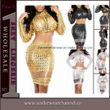 Factory Lady Sexy Vinyl Evening Party Faux Leather Dress (TP784)