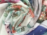Customized Digital Printed High Quality Soft Lightweight Pure Woven Cotton Voile