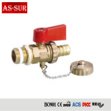 "Cw617n Brass 1/2"" M/F Gas Ball Valve with Butterfly Handle"