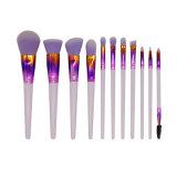 11 Pieces Professional Nylon Hair Cruelty-Free Powder Blush Eye Lash Beauty Equipment Cosmetics Makeup Brush Set