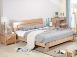 Solid Wooden Bed Modern Double Beds (M-X2277)