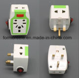 FM546 EU/Us/UK/BS to British Standard 3 Square Pin ABS 13A250V Neon Switching Plug Converter