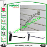 Metal Chrome Single Prong Hook of Slatwall Display Shelf