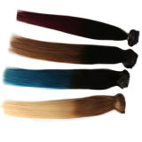 100% Human Remy Wavy Hair Clip in/on Extensions