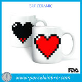 Pixel Heart Morphing Ceramic Color Change Mugs