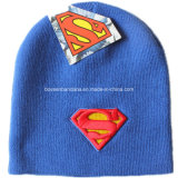 OEM Produce Customized Cartoon Men's Daily Warm Knit Embroidered Wool Beanie Cap