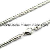 Stainless Steel Round Snake Chain Necklace