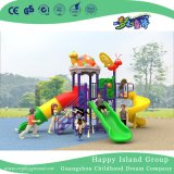 2018 New Design Outdoor Mushroom House with Butterfly Slide Playground (H17-A2)