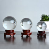 Fengshui Crystal Ball with Wooden Base