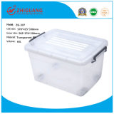 Durable Competitive Price Clear/Transparent Plastic Storage Box with Wheels