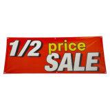 1/2 Price Sale Banner Half Sale Vinyl Banner 50% Discount PVC Banner for Indoor and Outdoor