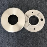 Stainless Steel Wall Mount Round Tube Post Anchor Foot Rails Fitting Long Weld Neck Plate Blind Flange Base