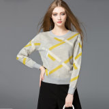 2018 New Wool/Acrylic Women′s Sweater Knitted Pullover Round Neck for Fall