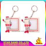 Hot Sales Cute Logo Soft PVC Photo Frame with Keychain