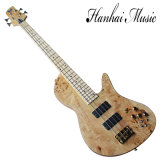 Hanhai Music/Fodera 4 Strings Electric Bass with Gold Hardware