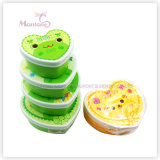 4PCS Food Storage Container Set Plastic PP Kids Lunch Box