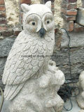 Marble Carvings Stone Owl Statue Granite Owl Sculpture for Home&Garden Decoration