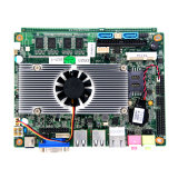 Intel Atom Fan Motherboard L2 Cache Embedded Motherboard with 4*USB