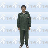 Polyester Waterproof Outdoor Rain Suit for Adult