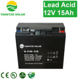 Long Work Life 12V 15ah Rechargeable Solar Panel Lead Acid Battery