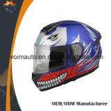 ECE DOT Full Face Helmen Motorcycle Helmet with Double Visor ABS