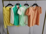 Good Quality Lady Blouse Stock Clothes for Sale