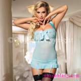 2017 No MOQ Offer Copyrights Hot Selling Blue Sexy Babydoll for Honeymoon Women