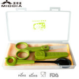 Ceramic Kitchen Food Scissors with Sheath and Baby Spoon Set