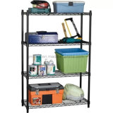 4-Tier Industrial Welded Wire Shelving with 600X350X750mm