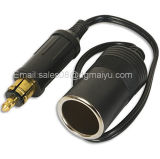 European 12V (DIN) High-End Motorcycle Car Cigarette Lighter Socket Power Plug Conversion Cable Accessory for BMW