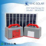 Whc 6V20W Rechargeable LED Solar Energy Kit for Camping