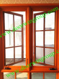 USA California Design Wood Aluminium Casement Window with Divided Lites