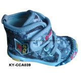 China New MID Cut Children Casual Comfort Boots Canvas Upper