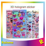 Hologram 3D Sticker with Glitter Powder Inside for Kids Promotion Gift
