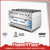 Catering Equipment 8 Burner Gas Range with Gas Oven Hgr-78g
